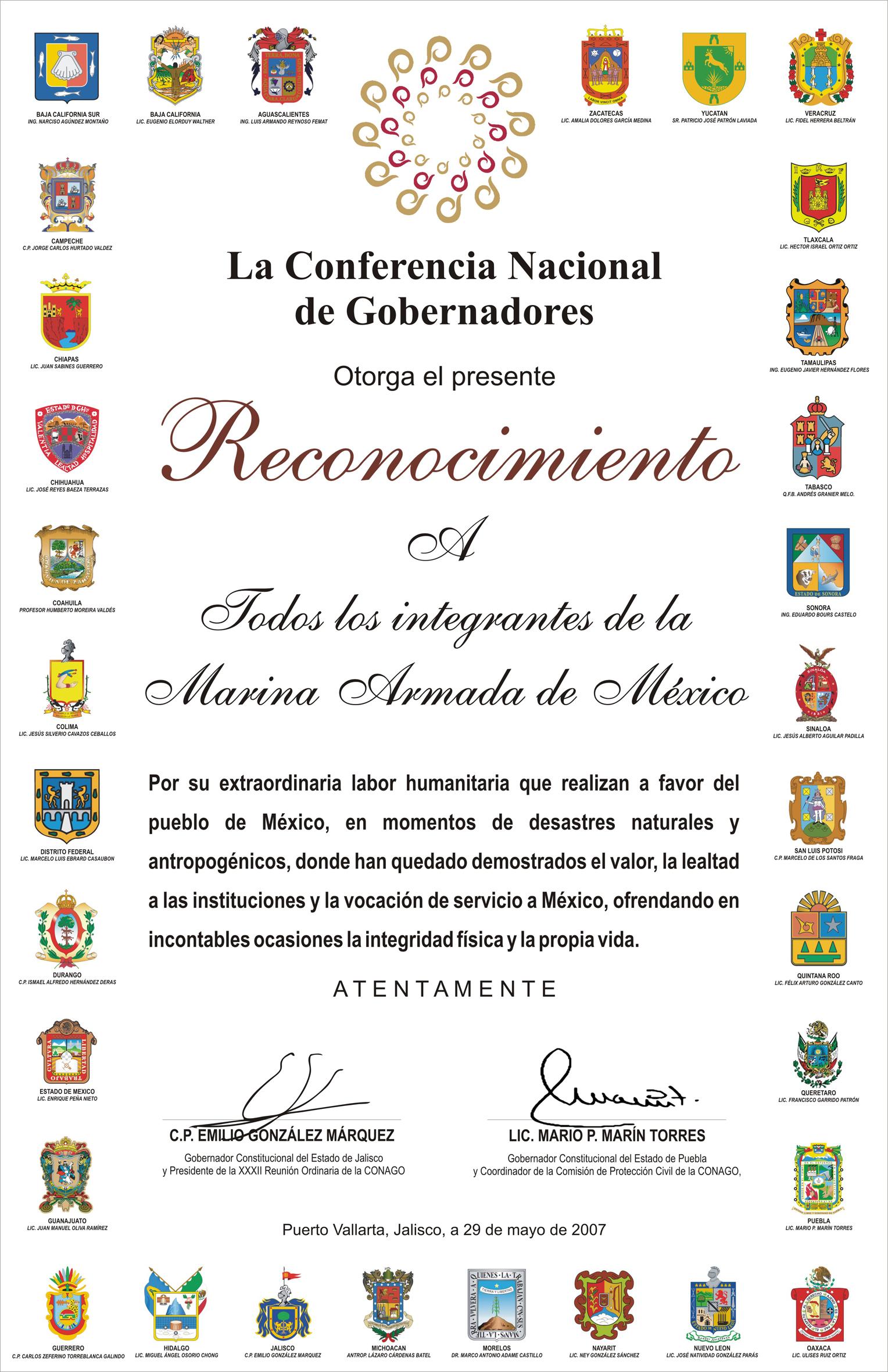 de la conferencia nacional de gobernadores